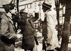 Modigliani, Picasso y André Salmon en Montparnasse, 1916