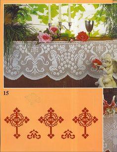 "Photo from album ""Muestras y Motivos on Yandex. Crochet Curtains, Valance Curtains, Filet Crochet, Simple, Crafts, Home Decor, Album, Yandex Disk, Gallery"