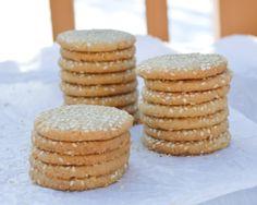 Tahini Thins: sesame cookies with tahini. Light, tender and nutty