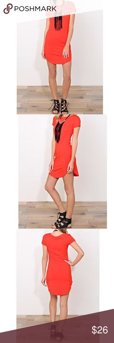 T shirt knit dress Round neck line T shirt light knit dress with rounded hem PLEASE USE Poshmark new option you can purchase and it will give you the option to pick the size you want ( all sizes are available) BUNDLE And SAVE 10% ( sizes updated daily ) Dresses