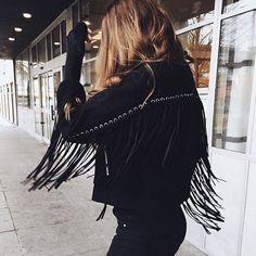 Fringe jacket.