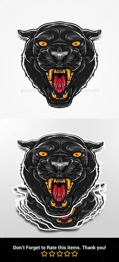 Buy Angry Black Panther Head by rautanstudio on GraphicRiver. Angry Black Panther Head Features : - Layered colors - AI - EPS 10 - JPG - PNG If you are looking for custom request,. Tiger Head Tattoo, Head Tattoos, Sleeve Tattoos, Black Panther Tattoo, Panther Logo, Black Panthers, Wolf Tattoo Design, Tattoo Designs, Tattoo Sketches