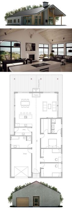 Flipped it could work. Love the western wall.......Like garage and entry. Shape. Small House Plan