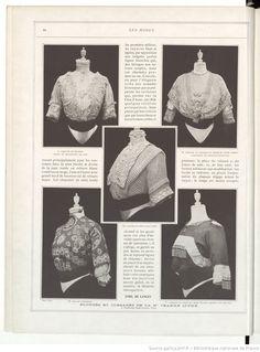 Les Modes : revue mensuelle illustrée des Arts décoratifs appliqués à la femme | 1911-02 | Gallica