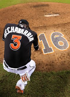 Adeiny Hechavarria #3 of the Miami Marlins pauses behind the pitching mound after the game against the New York Mets at Marlins Park on September 28, 2016 in Miami, Florida.
