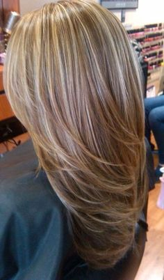 cool Light blonde highlights on medium brown hair...