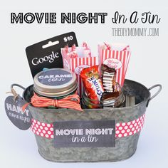A Gift In a Tin: Movie Night in a Tin