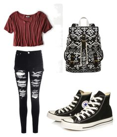 """""""Converse"""" by laura-27777 ❤ liked on Polyvore featuring SM New York, Glamorous, American Eagle Outfitters and Converse"""