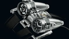 Maximilian Busser has officially unveiled his latest masterwork, the stunning MB&F Thunderbolt Watch. Whenever MB&F reveals a new timepiece, Unusual Watches, Amazing Watches, Cool Watches, Watches For Men, Wrist Watches, Ladies Watches, Modern Watches, Elegant Watches, Fine Watches