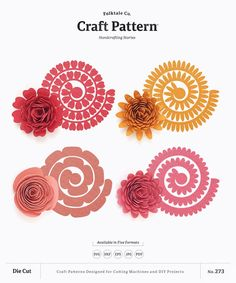 Felt Flower Template, Felt Flower Tutorial, Flower Svg, Leaf Template, Flower Crafts, Bow Tutorial, Rolled Paper Flowers, Paper Flowers Diy, Fabric Flowers