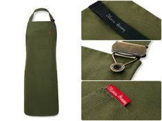The Olive Front of House Apron from Oliver Harvey's premium apron range.