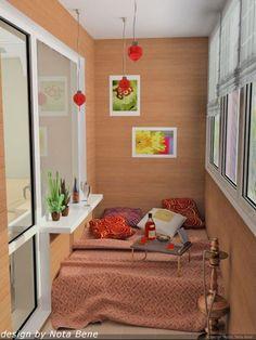 idea for a sun room or balcony. very romantic.