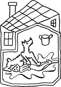 """""""O pejskovi a kočičce, jak si myli podlahu""""/""""O psíčkovi a mačičke, ako si umývali dlážku"""" :: Nové příběhy/Nové príbehy Preschool Activities, Kids Rugs, Drawings, Books, Libros, Kid Friendly Rugs, Book, Sketches, Drawing"""