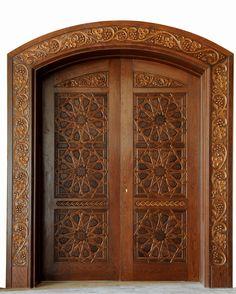 Moroccan Décor: Home Decor, Home Improvement & Home Design – Self Home Decor Wooden Front Door Design, Double Door Design, Wooden Front Doors, Pooja Room Door Design, Door Design Interior, Door Design Images, Cool Doors, Classic Doors, Antique Doors