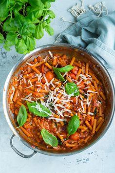 Vegetarisk one pot pasta