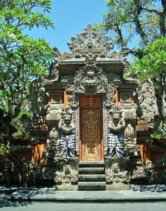 Entrance to the Puri Santrian Hotel in Sanur, Bali!  We spent many holidays here in this hotel........feels like home!