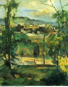 Paul Cezanne » Village behind trees