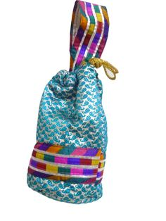 Potli bags are in fashion and comes in a variety of colors and designs.