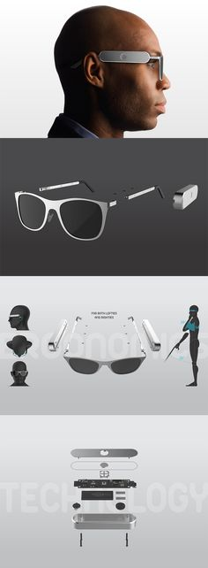 This pair of 'smart glasses' offers one group of people which are still finding this wearable tech useful: the visually impaired, wearers can operate it with one  simple button while keeping their hands free to use a cane or carry items... READ MORE at Yanko Design !