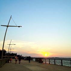 Last sunset of 2011 is gorgeous #sunset #woodlands #waterfront #sky #skyline #nature #singapore #sg #jetty #beach #coast #coastline #iphone4s #nofilter #causeway #marsiling #admiralty #checkpoint #guosheng #guoshengz