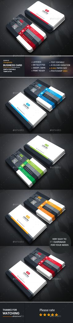 Business Card Template PSD. Download here: https://graphicriver.net/item/business-card/17327874?ref=ksioks
