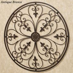 Ravenna Round Wrought Iron Wall Grille
