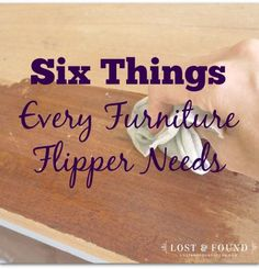 Things Every Furniture Flipper Needs Six Things Every Furniture Flipper Needs. Here what one pro flipper keeps in her toolchest at all times!Six Things Every Furniture Flipper Needs. Here what one pro flipper keeps in her toolchest at all times! Furniture Repair, Paint Furniture, Furniture Projects, Furniture Makeover, Furniture Design, Furniture Refinishing, Furniture Stores, Furniture Market, Cheap Furniture