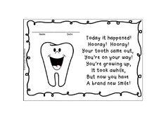 FREEBIE!  Lost Tooth Certificate.  Fun rhyming poem!