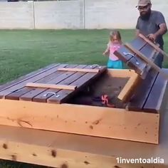 Outdoor Pallet 850476710863697974 - Amor de padre ❤️ Muy original Source by tgnrt Kids Outdoor Playground, Backyard For Kids, Outdoor Projects, Garden Projects, Wood Projects, Woodworking Plans, Woodworking Projects, Woodworking Techniques, Outdoor Play Areas
