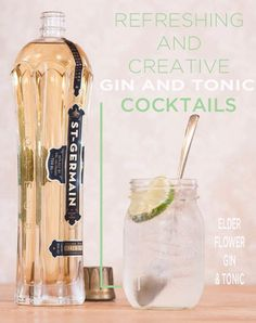 St Germain Gin and Tonic. 17 Creative Gin And Tonic Cocktails Fancy Drinks, Summer Drinks, Cocktail Drinks, Alcoholic Drinks, Beverages, St Germain Cocktail, Easter Cocktails, Spring Cocktails, Classic Cocktails