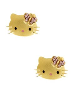 {Hello Kitty Stud Earrings}