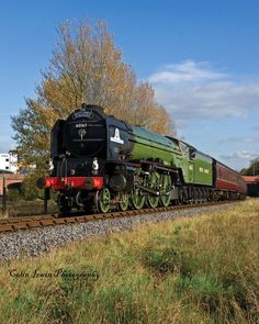 The world famous Tornado on its first ever visit to the East Lancs Railway coasts over the Ski jump just outside bolton street station. The East Lancs Tornado Steam Trains Uk, Old Steam Train, Uk Rail, Transportation Technology, Flying Scotsman, Steam Railway, Old Trains, British Rail, Train Pictures