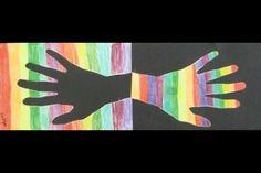 Gekleurde spiegelhand