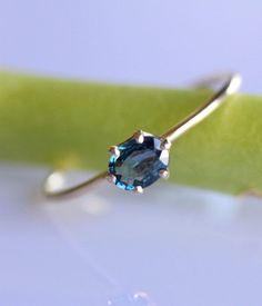 Birthstone sapphire in a simple solitaire for only $120.