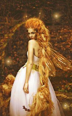 gold fairy. fantasy photography