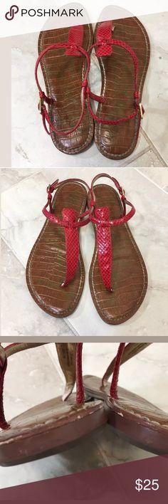 Sam Edelman Gigi 7.5 M Red Patent Sandals Nice preowned condition, see photos Sam Edelman Shoes Sandals