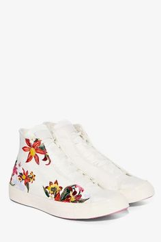 80a13c5de8d Converse Chuck Taylor All Star High-Top Sneaker - Embroidered Floral -  Sneakers