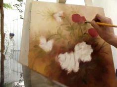 PINTANDO ROSAS AMARELAS - Óleo sobre Tela, por Shirley Sbeghen. - YouTube