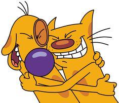 Nickelodeon Cartoons, Retro Cartoons, Vintage Cartoon, Vintage Toys, Cat Dog Cartoon, Cute Cartoon, Dog Cat, Cartoon Shows, Cartoon Characters
