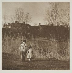 The skirt of the village (1887, Peter Henry Emerson)