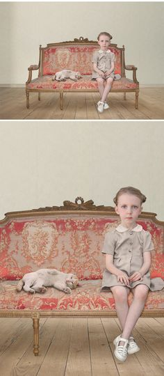 This is the lovely, and slightly disturbing, work of German artist Loretta Lux.  Photographs? Paintings? Both?  from the Jealous Curator