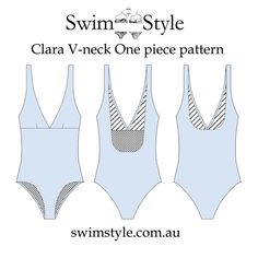 Clara One piece swimsuit pattern  Your classic style for Summer