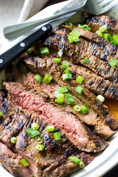 PALEO MARINATED FLANK STEAK. 11 Paleo Recipes to Make on the Grill This Summer #purewow #summer #dinner #lunch #paleo #food #grilling #paleorecipes #flanksteak #grillingrecipes