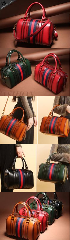 Genuine Leather handbag Boston bag shoulder bag for women