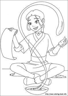 Airbender From The Legend Of Korra Coloring Pages For Kids Printable Free
