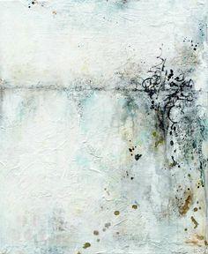 """© 2015 Laly Mille """"A la memoria"""" - La pintura abstracta técnica mixta sobre lienzo"""