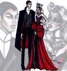 Hayden Williams Fashion Illustrations: 'Together Eternally' by Hayden Williams. Happy Halloween!!