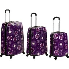 Rockland Luggage 3-Piece Vision ABS Spinning Luggage Set: Luggage : Walmart.com