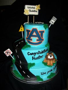 High school bottom layer- to college on top layer- each layer of cake is a different flavor