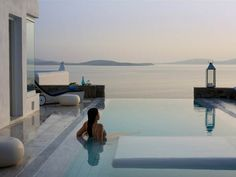 Mykonos Grand Hotel overlooking the beach of Ayios Yiannis